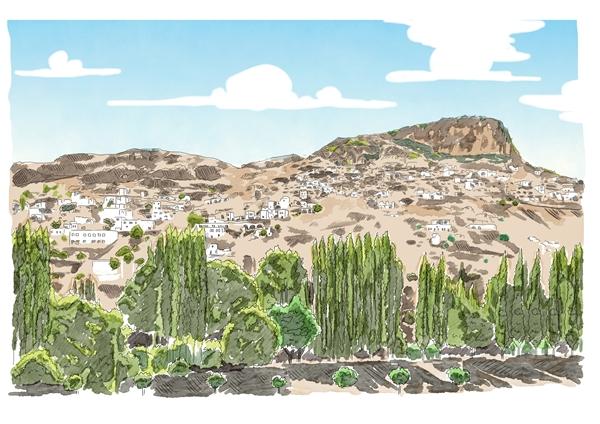 Ispanyol Artist In Gore Harabeleri Ruyasi Kapadokya Hill Hotel Spa